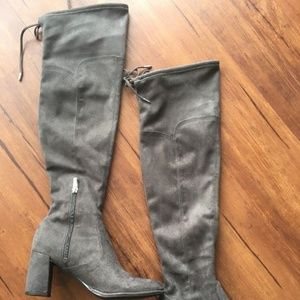 Marc Fisher Gray Suede Over the Knee Boots 8.5